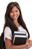 Asian female college student Stock Images