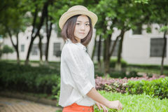 Asian female college student Stock Photos