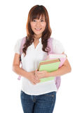 Asian female college student stock photography