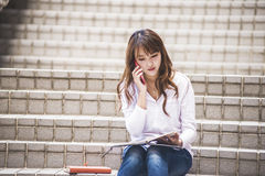 Asian female college Royalty Free Stock Images