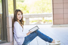 Asian female college Royalty Free Stock Photos
