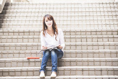 Asian female college Stock Images