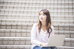 Asian female college Royalty Free Stock Photo