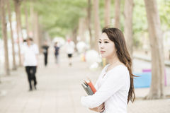 Asian female college Royalty Free Stock Photography