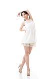 Asian female dancer posing Royalty Free Stock Images