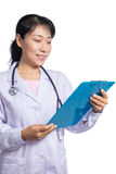Asian female doctor with stethoscope Royalty Free Stock Images