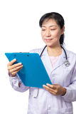 Asian female doctor with stethoscope Royalty Free Stock Image