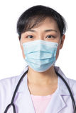 Asian female doctor wearing a mask Stock Photos