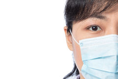 Asian female doctor wearing a mask Royalty Free Stock Images