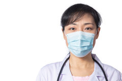 Asian female doctor wearing a mask Stock Image