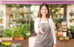 Asian female florist Royalty Free Stock Photo