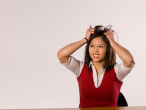 Asian Female Making a facial expression Stock Photos