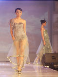 Asian female model at fashion show Royalty Free Stock Photography