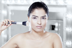 Asian female model in makeup room Stock Photo