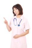 Asian female nurse Stock Photo