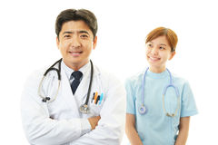 Asian female nurse and doctor Stock Images