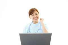 Asian female nurse Stock Photos