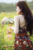 Asian female painter   Royalty Free Stock Photos