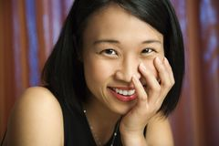 Asian female portrait. Royalty Free Stock Image