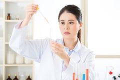 Asian female scientist Breaking scientific boundaries with her r Stock Photo