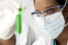 Asian Female Scientist or Doctor In Laboratory Stock Photo