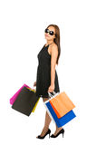 Asian Female Shopper Casually Standing Full Stock Photography