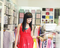 Asian female shopping Stock Photo