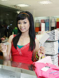Asian female shopping Stock Photography