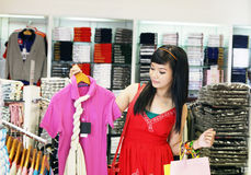 Asian female shopping Stock Images