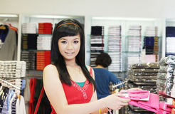 Asian female shopping Stock Image