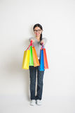 Asian female shopping Royalty Free Stock Image
