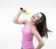 Asian female singing Royalty Free Stock Photo