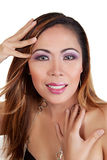 Asian female smiling Stock Photo