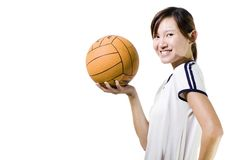 Asian female sports player Stock Image