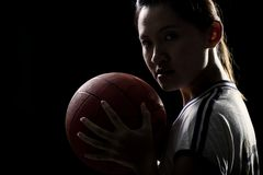 Asian female sports player Royalty Free Stock Images