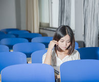 Asian female student Stock Images