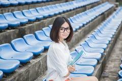 Asian female student Stock Photos
