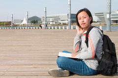 Asian female student. Close-up of Asian female student Stock Photos