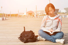 Asian female student. Close-up of Asian female student Stock Images