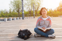 Asian female student. Close-up of Asian female student Royalty Free Stock Images