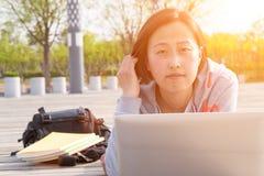 Asian female student Stock Photo