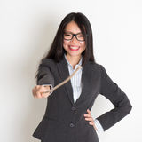 Asian female teacher smiling Royalty Free Stock Images