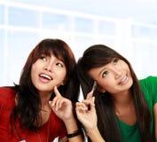 Asian female thinking Royalty Free Stock Photos