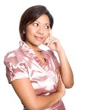 Asian female thinking Stock Image