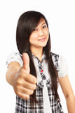 Asian female with thumb up Royalty Free Stock Photos