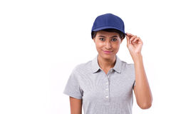 Asian female worker isolated Royalty Free Stock Photo