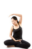 Asian female yoga isolated. Stock Image