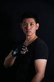 Asian Fighter boxer standing strong Royalty Free Stock Photo