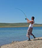 Asian fisherman Stock Photos