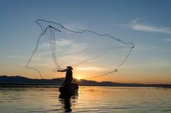 Asian fisherman Stock Images